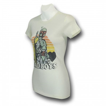 Boba Fett I Love Bad Boys Jr Womens T-Shirt