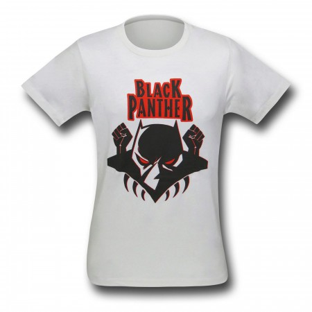 Black Panther Logo on Cream 30 Single T-Shirt