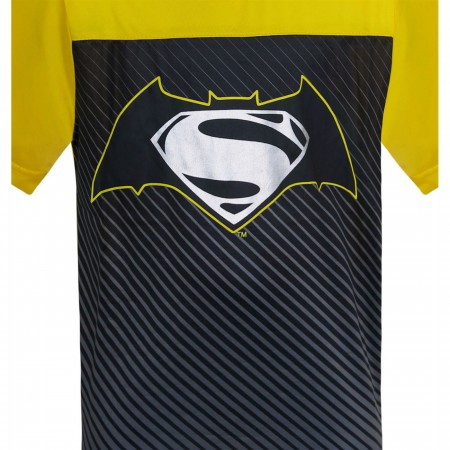 Batman Vs Superman Symbol Kids Cut & Sew T-Shirts