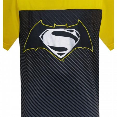 Batman Vs Superman Symbol Kids Cut & Sew T-Shirts
