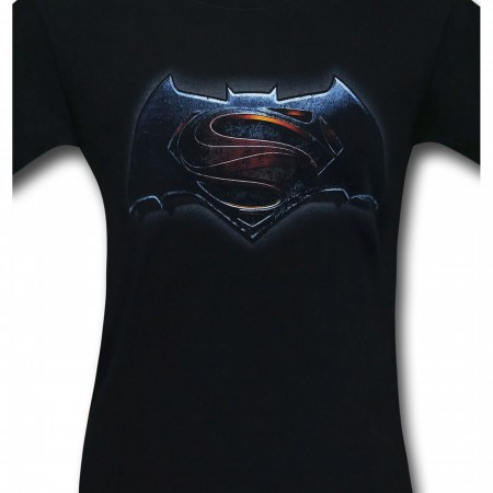Batman Vs Superman Main Logo Black T-Shirt