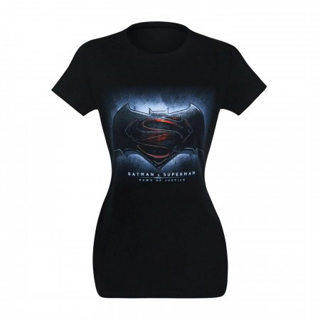 Batman Vs Superman Symbol Women's T-Shirt