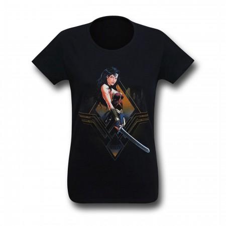 Batman Vs Superman Wonder Woman City Girl Women's T-Shirt
