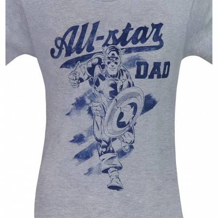 Captain America All-Star Dad Men's T-Shirt