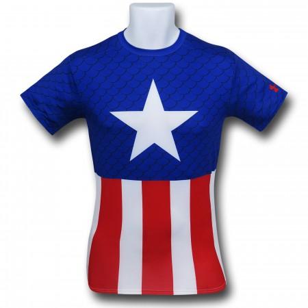 Captain America Costume Under Armour Compression T-Shirt