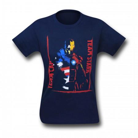 Captain America Civil War Kids Team Versus T-Shirt