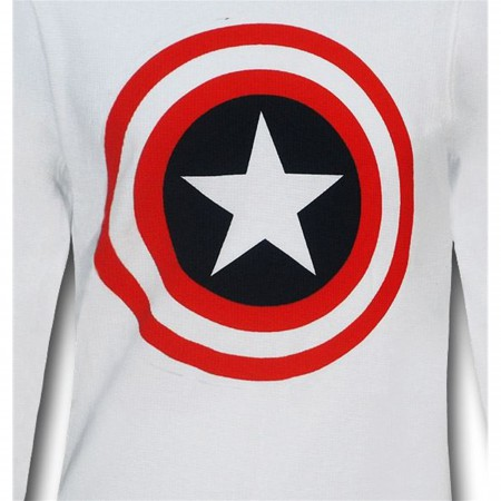 Captain America White Thermal Long Sleeve T-Shirt