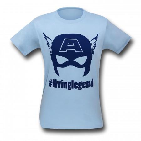 Captain America #livinglegend 30 Single T-Shirt