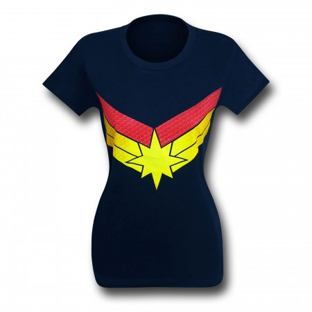 Captain Marvel Symbol Women's Fitted T-Shirt