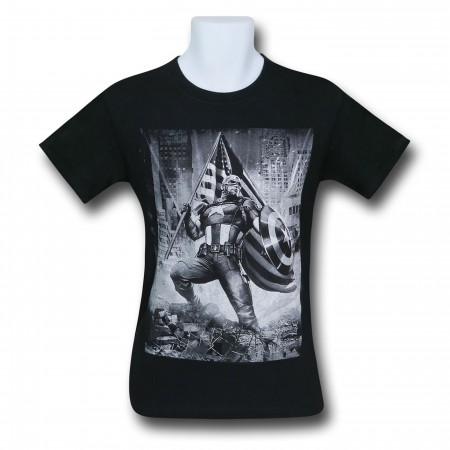Captain America Patriotic Flag Men's T-Shirt