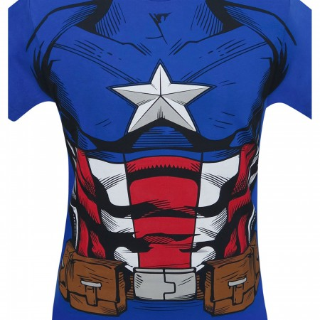 Captain America Suit-Up Men's Costume T-Shirt