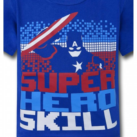 Captain America Superhero Skill Kids T-Shirt