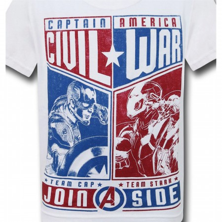 Captain America Civil War Choose Sides Kids T-Shirt