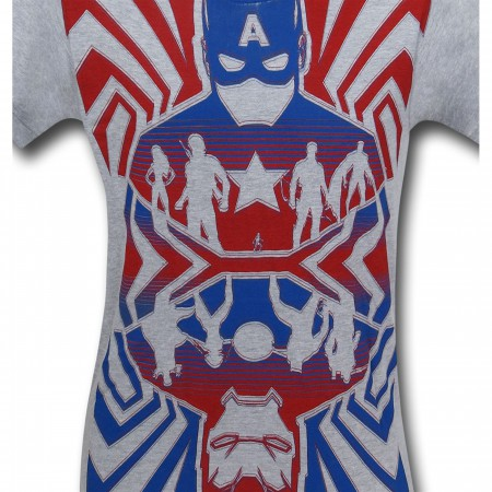 Captain America Civil War Opposing Forces T-Shirt