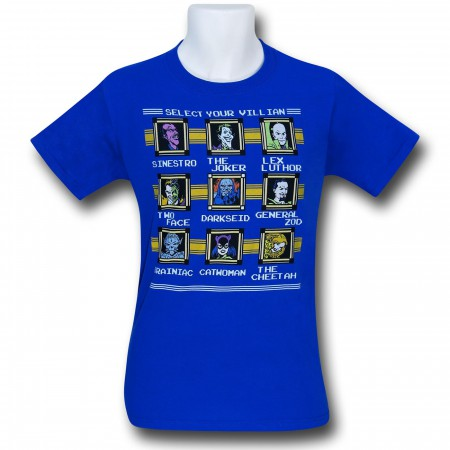 DC Villains Megaman Characters T-Shirt