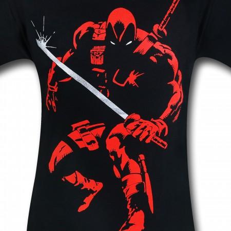 Deadpool Red Outline T-Shirt