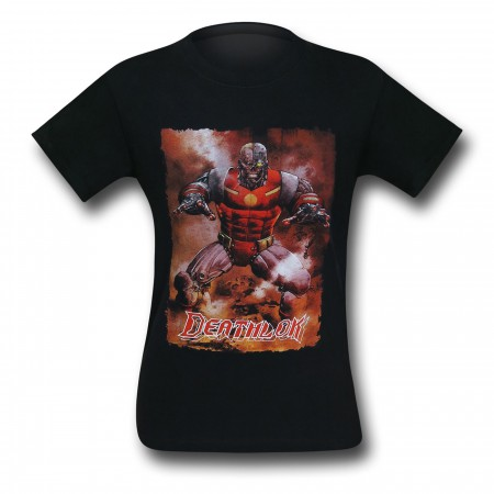 Deathlok Action Portrait Black T-Shirt