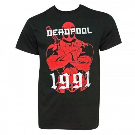 Deadpool 1991 Black Men's T-Shirt