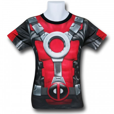 Deadpool All-Over Print Costume Fitness T-Shirt