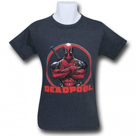 Deadpool Arms Crossed 30 Single T-Shirt
