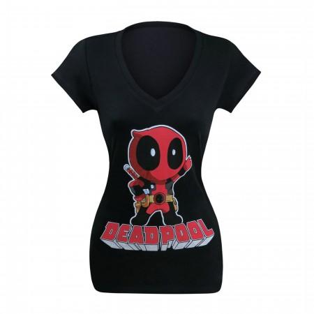 Deadpool Hey There Women's V-Neck T-Shirt