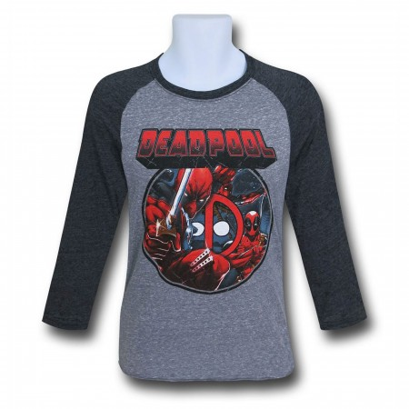 Deadpool Image Circle Baseball T-Shirt