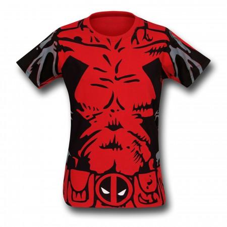 Deadpool Sublimated Costume T-Shirt