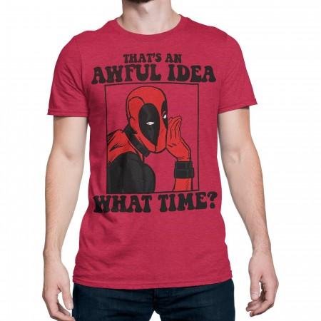 Deadpool That's An Awful Idea Men's T-Shirt