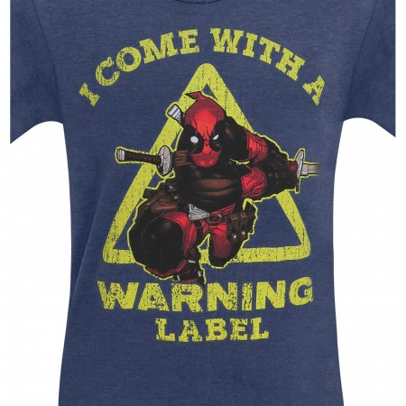 Deadpool Warning Label Men's T-Shirt