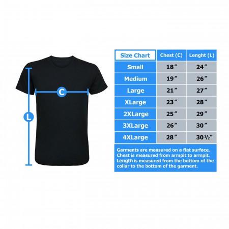 Deadpool Warning Label Men's T-Shirt
