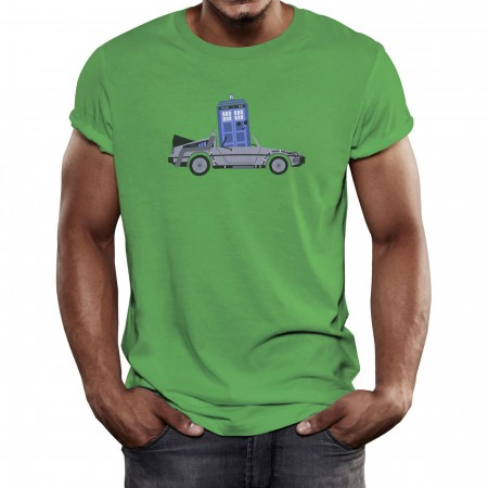 DeLorean Police Box T-Shirt