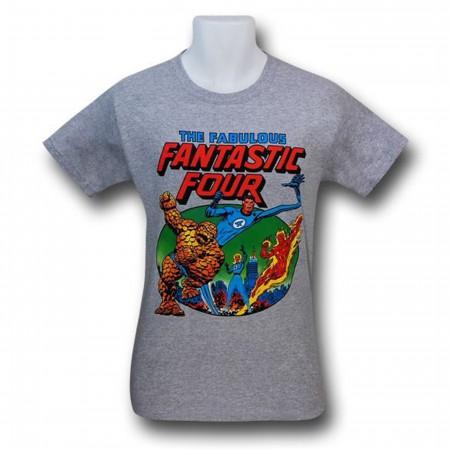 Fantastic Four Fabulous Heather Grey T-Shirt