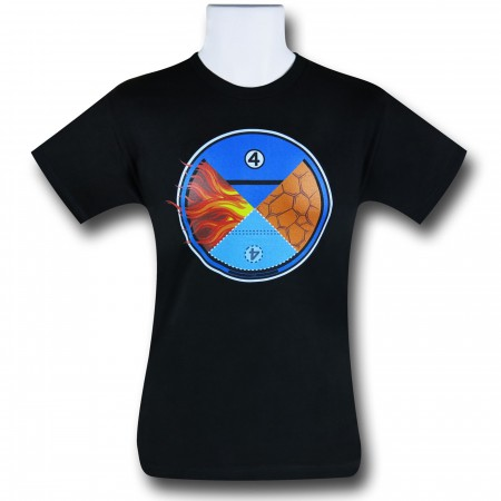 Fantastic Four Hero Quadrant 30 Single T-Shirt