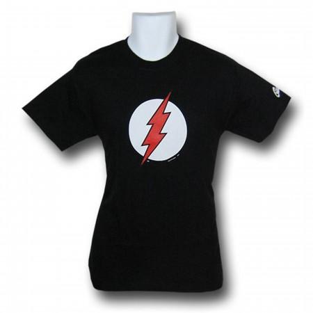 Flash Red Bolt Symbol Black T-Shirt