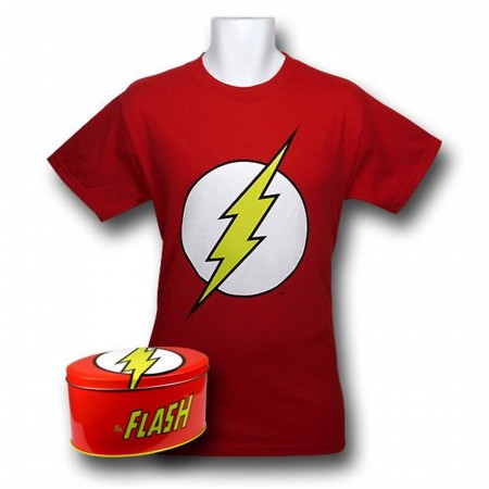 Flash Symbol T-Shirt In A Tin