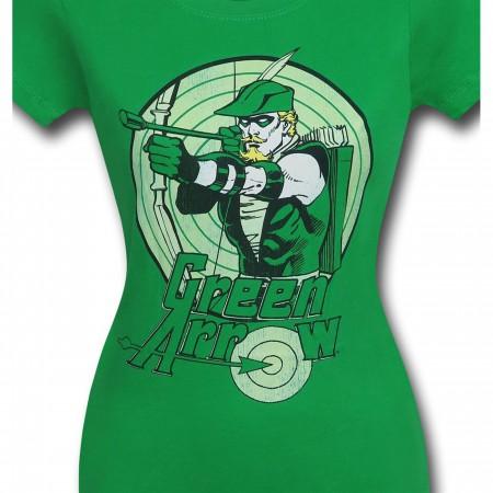 Green Arrow Bullseye Kelly Green Women's T-Shirt