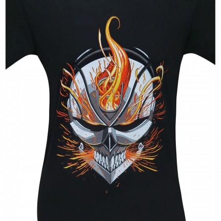 Ghost Rider Flaming Helmet Men's T-Shirt