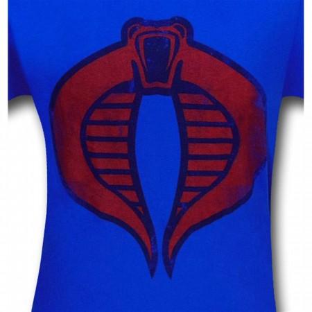 GI Joe Red Cobra Symbol Royal Blue T-Shirt