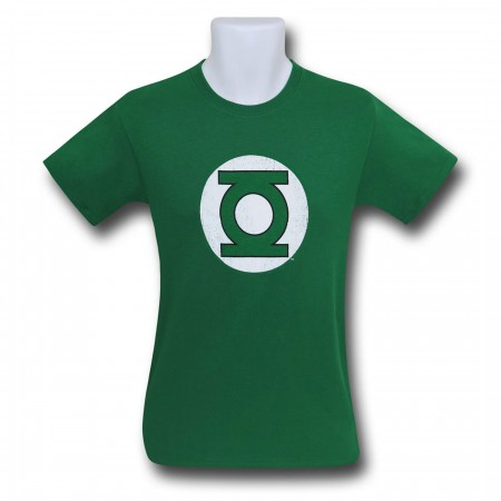 Green Lantern Hal Jordan Distressed Logo Men's T-Shirt
