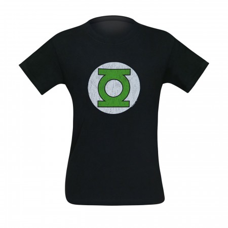 Green Lantern Corps Distressed Black Men's T-Shirt