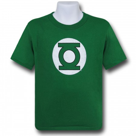 Green Lantern Kids Distressed Symbol T-Shirt