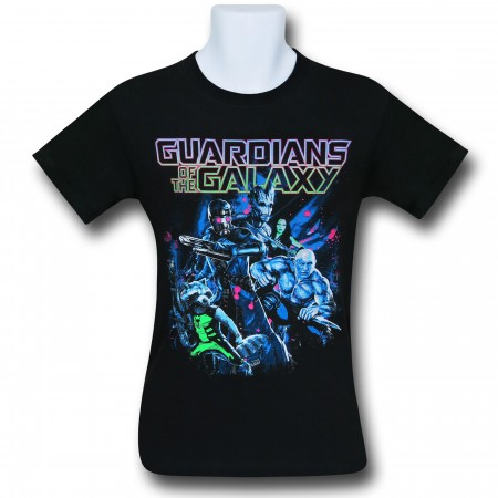 Guardians of the Galaxy Epic Poster Black T-Shirt
