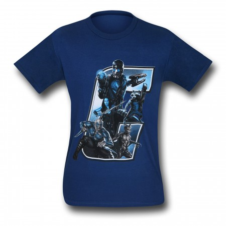 Guardians of the Galaxy Filled G 30 Single T-Shirt