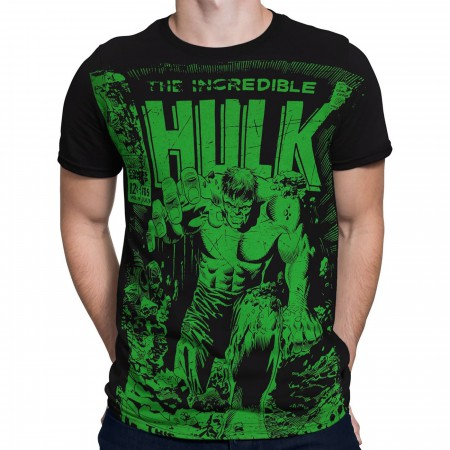 Hulk #105 Cover Black 30 Single T-Shirt