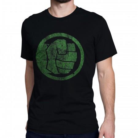 Hulk Fist Bump on Men's  Black T-Shirt
