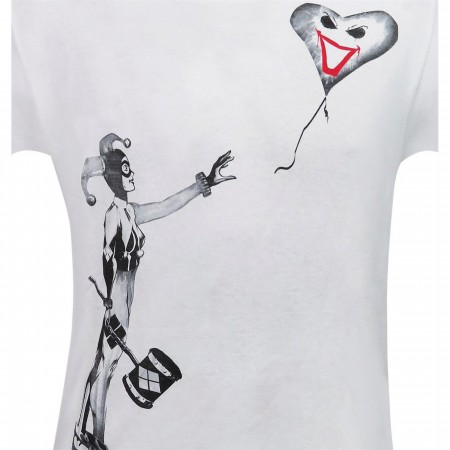 Harley Quinn Balloon Stencil Men's T-Shirt