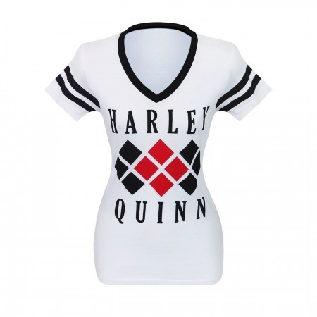 Harley Quinn Diamond Women's Varsity V-Neck T-Shirt