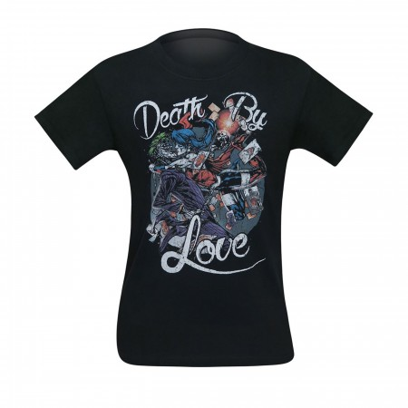 Harley Quinn Death By Love Men's T-Shirt