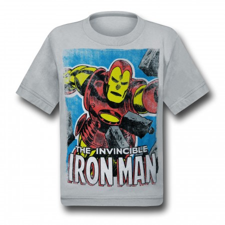Iron Man Brick Smash Kids T-Shirt