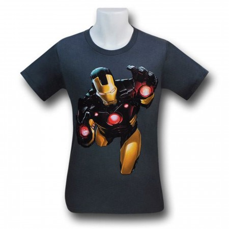 Iron Man Black And Yellow Suit 30 Single T-Shirt